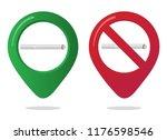 no smoking and smoking area... | Shutterstock .eps vector #1176598546