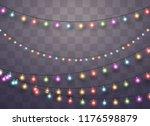 christmas lights isolated... | Shutterstock .eps vector #1176598879