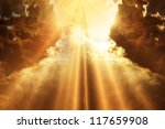 rays of light shining through... | Shutterstock . vector #117659908