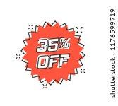 vector cartoon discount sticker ... | Shutterstock .eps vector #1176599719
