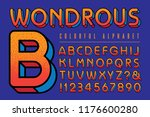 vector font alphabet with warm... | Shutterstock .eps vector #1176600280