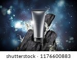 blank plastic tube with bamboo... | Shutterstock .eps vector #1176600883