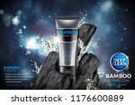 bamboo charcoal face wash ads... | Shutterstock .eps vector #1176600889