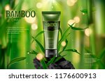bamboo charcoal face wash ads... | Shutterstock .eps vector #1176600913