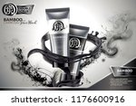 bamboo charcoal face wash ads... | Shutterstock .eps vector #1176600916