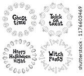 halloween frames. handdrawn...   Shutterstock .eps vector #1176603469