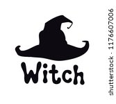 witch. halloween theme.... | Shutterstock .eps vector #1176607006