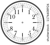 clock face for house  alarm ...   Shutterstock .eps vector #1176608926