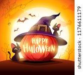 halloween pumpkin. jack o... | Shutterstock .eps vector #1176611179