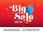 festival big sale poster design ... | Shutterstock .eps vector #1176613519