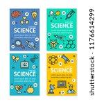 science research flyer banner... | Shutterstock . vector #1176614299
