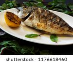fried dorado stuffed with...   Shutterstock . vector #1176618460