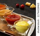 set of various sauces   Shutterstock . vector #1176618463