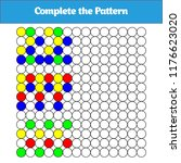 complete the pattern. education ... | Shutterstock .eps vector #1176623020