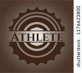 athlete vintage wooden emblem   Shutterstock .eps vector #1176623800
