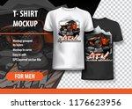 t shirt template  fully...   Shutterstock .eps vector #1176623956