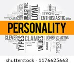 personality word cloud collage  ... | Shutterstock .eps vector #1176625663