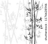 vector bamboo black and white... | Shutterstock .eps vector #1176628546