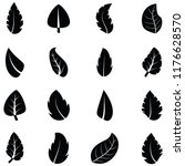 leaf icon set | Shutterstock .eps vector #1176628570