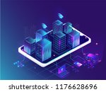 futuristic smart city concept ... | Shutterstock .eps vector #1176628696
