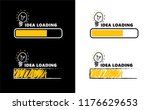 comic brain electric lamp idea... | Shutterstock .eps vector #1176629653