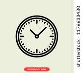 clock concept line icon. simple ...