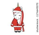 cute cartoon vector christmas...   Shutterstock .eps vector #1176645070