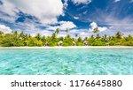 tropical beach in exotic...   Shutterstock . vector #1176645880