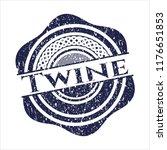 blue twine grunge seal   Shutterstock .eps vector #1176651853
