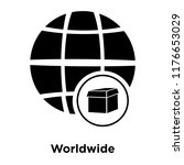 worldwide icon vector isolated... | Shutterstock .eps vector #1176653029