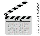 calendar for 2019  movie... | Shutterstock . vector #1176654040