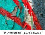 Small photo of Grunge background with abstract colored texture. Old vintage scratches, stain, paint splats, spots.