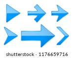 blue arrows. shiny 3d glass... | Shutterstock .eps vector #1176659716