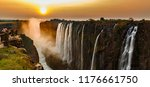 Wide Panorama Of Victoria Fall...