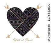 ethnic heart graphic for t shirt | Shutterstock . vector #1176662800