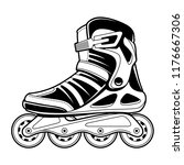 inline roller skate technical... | Shutterstock .eps vector #1176667306