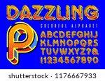 vector font alphabet with... | Shutterstock .eps vector #1176667933