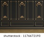 classic interior wall with... | Shutterstock . vector #1176672193