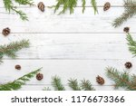 christmas composition with... | Shutterstock . vector #1176673366