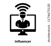 influencer icon vector isolated ...   Shutterstock .eps vector #1176675130