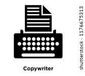 copywriter icon vector isolated ... | Shutterstock .eps vector #1176675313