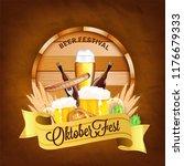 beer festival  oktoberfest...   Shutterstock .eps vector #1176679333
