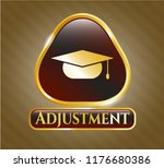 gold emblem with graduation... | Shutterstock .eps vector #1176680386