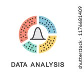 icon data analysis. extracting... | Shutterstock .eps vector #1176681409