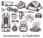 vector hand drawn set of... | Shutterstock .eps vector #1176681820