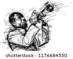 vector black and white... | Shutterstock .eps vector #1176684550