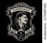 vintage barbershop signs   Shutterstock .eps vector #1176685183