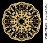 round pattern flower mandala....   Shutterstock .eps vector #1176686353