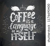 banner with coffee quotes .... | Shutterstock .eps vector #1176690400