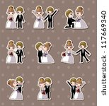 set of wedding  bridegroom and... | Shutterstock .eps vector #117669340